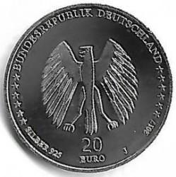 Moeda > 20euro, 2017 - Alemanha  (Grimm's Fairy Tales - Town Musicians of Bremen) - obverse