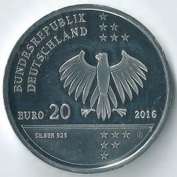 Moeda > 20euro, 2016 - Alemanha  (200th Anniversary - Birth of Ernst Litfass) - obverse