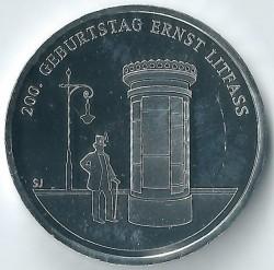 Moeda > 20euro, 2016 - Alemanha  (200th Anniversary - Birth of Ernst Litfass) - reverse