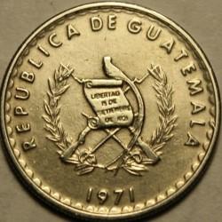 Coin > 10centavos, 1971-1973 - Guatemala  - obverse
