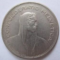 Moneta > 5franków, 1985 - Szwajcaria  - obverse