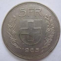 Moneta > 5franków, 1985 - Szwajcaria  - reverse
