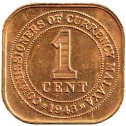 Moneta > 1centesimo, 1943-1945 - Malaya  - reverse