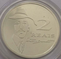 Moneta > 2reale, 2006 - Brazylia  (100 rocznica - Lot samolotu Alberto Santosa-Dumont No. 14-bis) - reverse