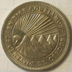 Münze > 25Centavos, 1964-1965 - Nicaragua   - reverse