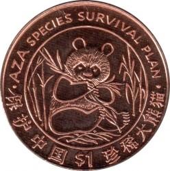 Coin > 1dollar, 1997 - Liberia  (Species Survival Plan - Panda) - reverse