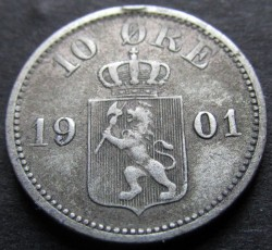 Coin > 10ore, 1875-1903 - Norway  - obverse