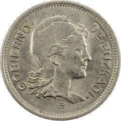 Монета > 1песета, 1937 - Испания - Гражданская война  - obverse