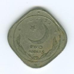 Монета > 2анны, 1950 - Пакистан  - reverse