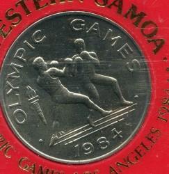 Monedă > 1tala, 1984 - Samoa  (XXIII summer Olympic Games, Los Angeles 1984) - reverse