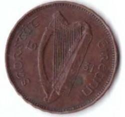 Münze > 1Farthing, 1928-1937 - Irland   - obverse