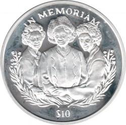 Moneta > 10dollari, 2002 - Sierra Leone  (In memoria - Regina madre, regina Elisabetta II e la principessa Margaret) - reverse