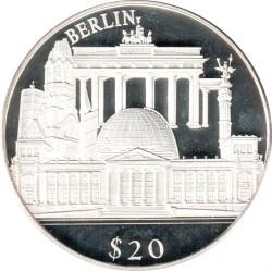 Монета > 20долларов, 2000 - Либерия  (Европейские достопримечательности - Берлин) - reverse
