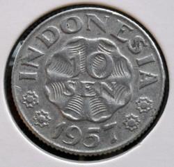 سکه > 10سن, 1957 - اندونزی  - reverse