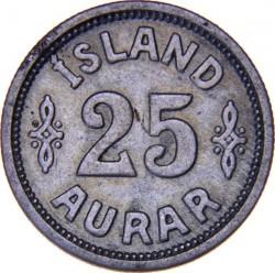 Münze > 25Aurar, 1922-1940 - Island   - reverse