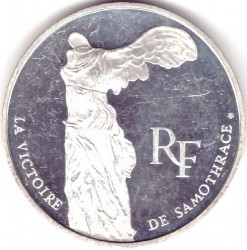 Кованица > 100 франака, 1993 - Француска  (200th Anniversary -  The Louvre. Nike of Samothrace) - obverse