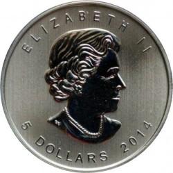 Moneta > 5dolarów, 2014 - Kanada  (Ptaki - Bielik amerykański) - obverse
