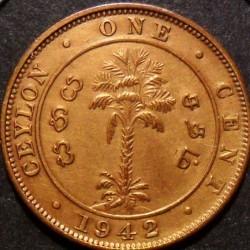 Coin > 1cent, 1937-1942 - Ceylon  - reverse