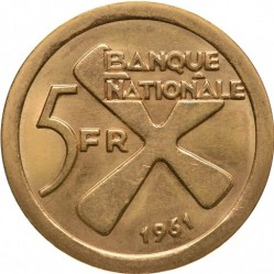 Moneta > 5franków, 1961 - Katanga  - reverse