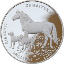 Coin > 10 euro, 2017 - Lithuania  (Lithuanian Hound and Samogitian Horse) - obverse