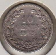 Münze > 10Cent, 1849-1890 - Niederlande  - reverse