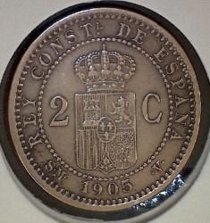 Monēta > 2sentimo, 1904-1905 - Spānija  - reverse