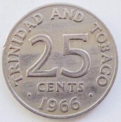 Moneta > 25centesimi, 1966-1972 - Trinidad e Tobago  - reverse