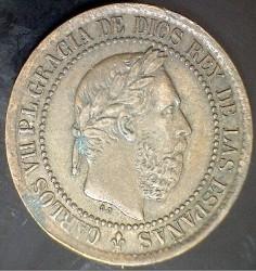 Coin > 5céntimos, 1875 - Spain  - obverse