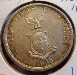 """Монета > 1песо, 1936 - Филиппины  (Создание Содружества /надпись """"nov 15 1935"""" справа от голов/) - reverse"""