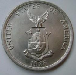 """Монета > 1песо, 1936 - Филиппины  (Создание Содружества /надпись """"nov 15 1935"""" над головами/) - obverse"""