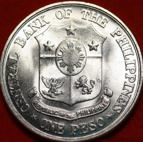 Ayuda con lugar de cuñación Philippines-1-peso-1961