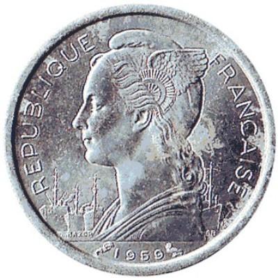 1 Frank 1959 Somali Francuskie Km 8 Katalog Monet