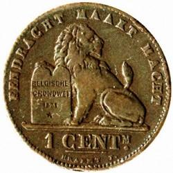 "Moneda > 1centime, 1882-1907 - Bèlgica  (Llegenda en holandès - ""DER BELGEN"") - reverse"