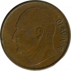 Mynt > 5ore, 1958 - Norge  - reverse