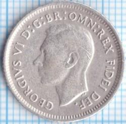 Монета > 6пенсов, 1950-1952 - Австралия  - obverse