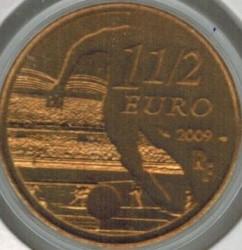 Moneda > 1½euros, 2009 - Francia  (Clubs de Futbol - Olympique Lyonnais) - obverse