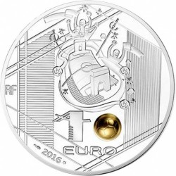 Moneta > 10 eurų, 2016 - Prancūzija  (UEFA European Championship 2016 /kicking the golden ball/) - obverse