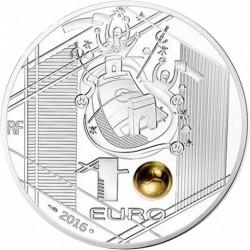 Pièce > 10euros, 2016 - France  (Championnat d'Europe de l'UEFA 2016 / tête sur la balle d'or /) - obverse