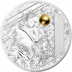 Монета > 10евро, 2016 - Франция  (Чемпионат Европы по футболу 2016 /удар головой по золотому мячу/) - reverse