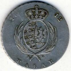 Монета > 1талер, 1811-1814 - Польша  - reverse