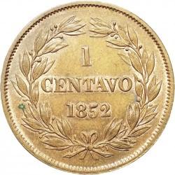 錢幣 > 1分, 1852 - 委內瑞拉  (無鑄記) - reverse