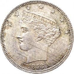 Mynt > 1real, 1858 - Venezuela  - obverse