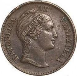Moneda > 1centavo, 1858-1863 - Venezuela  - obverse