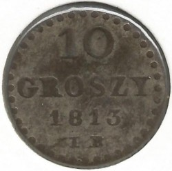 Монета > 10грошей, 1810-1813 - Польша  - obverse