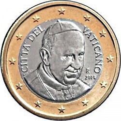 Münze > 1Euro, 2014-2016 - Vatikanstadt   - obverse