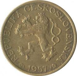 Moneta > 1korona, 1957-1960 - Czechosłowacja  - obverse