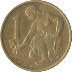 Кованица > 1круна, 1957-1960 - Чехословачка  - reverse