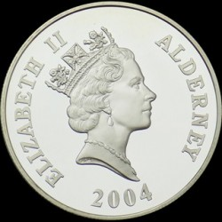 "Moneda > 5 libras, 2004 - Alderney  (Florence Nightingale ""The Lady with the Lamp"") - reverse"