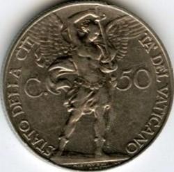Munt > 50centesimi, 1933 - Vaticaanstad  - reverse