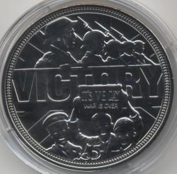Moneda > 5libras, 2015 - Guernesey  (70 Aniversario - Victoria) - reverse